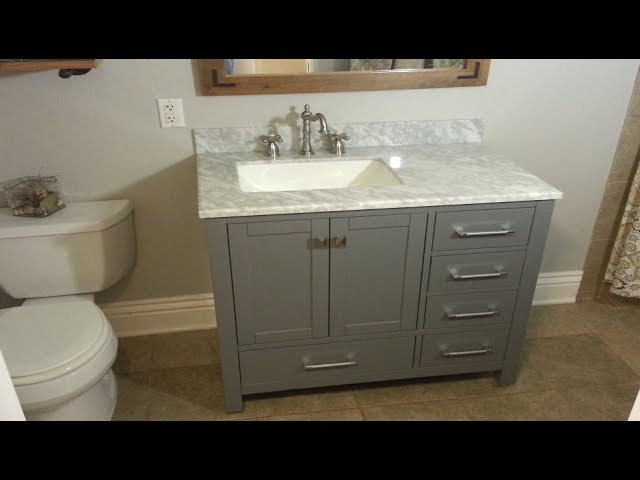 How To Replace A Bathroom Vanity The Handyman Youtube