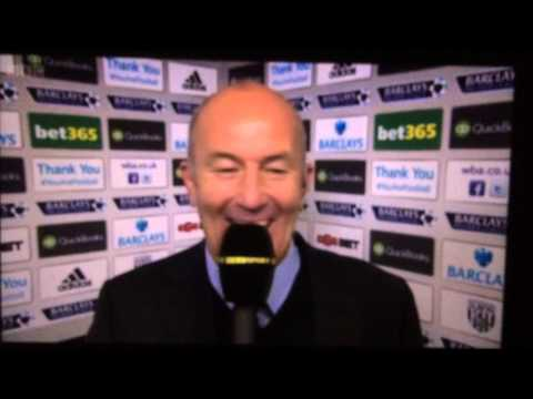 Tony Pulis awful laugh again!