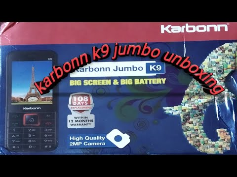 #Karbonn k9 jumbo unboxing and review