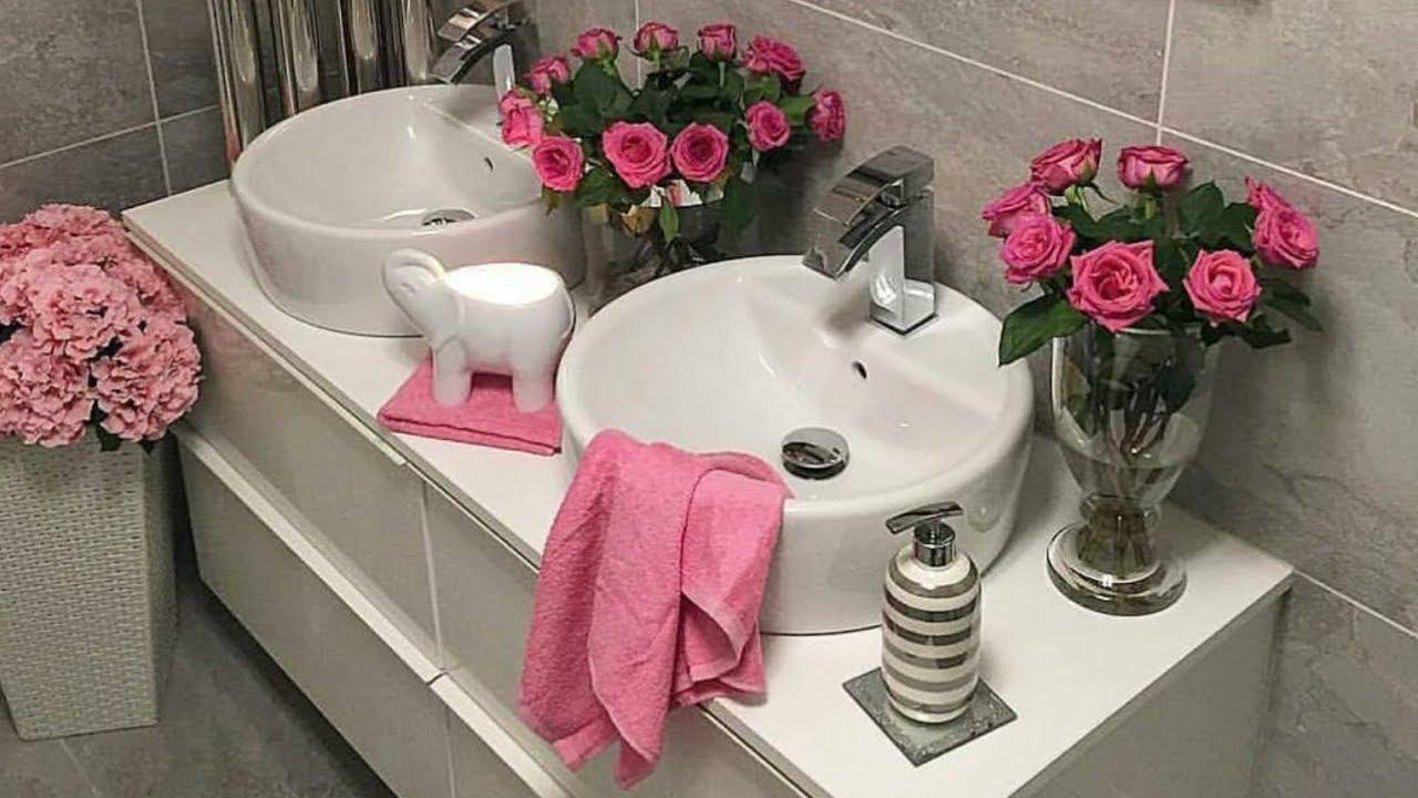 افكار لتزيين حمامات صغيرة المساحة تزيين الحمام 2018