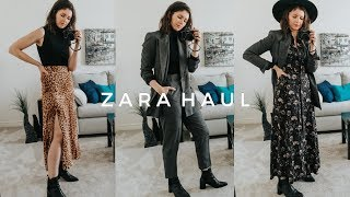 NEW IN ZARA HAUL | UNBOXING & TRY ON FALL/WINTER OUTFIT IDEAS