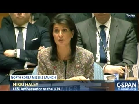 11/29/2017 UN Security Council Emergency Meeting On North Korea Ballistic Missile Launch
