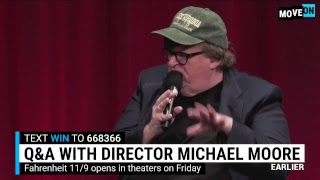 Watch Michael Moore and Allyssa Milano Host a Special #F119 Premiere