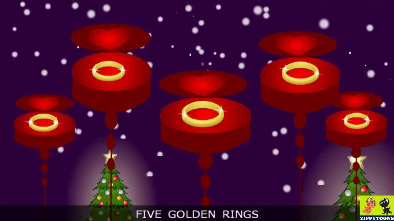 nursery rhymes 12 days of christmas animated christmas songs