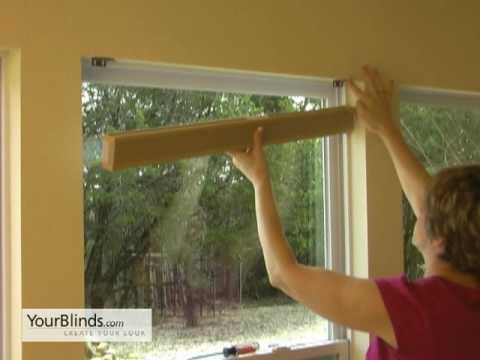 How to Install Cellular Shades - Inside Mount - YourBlinds.com DIY