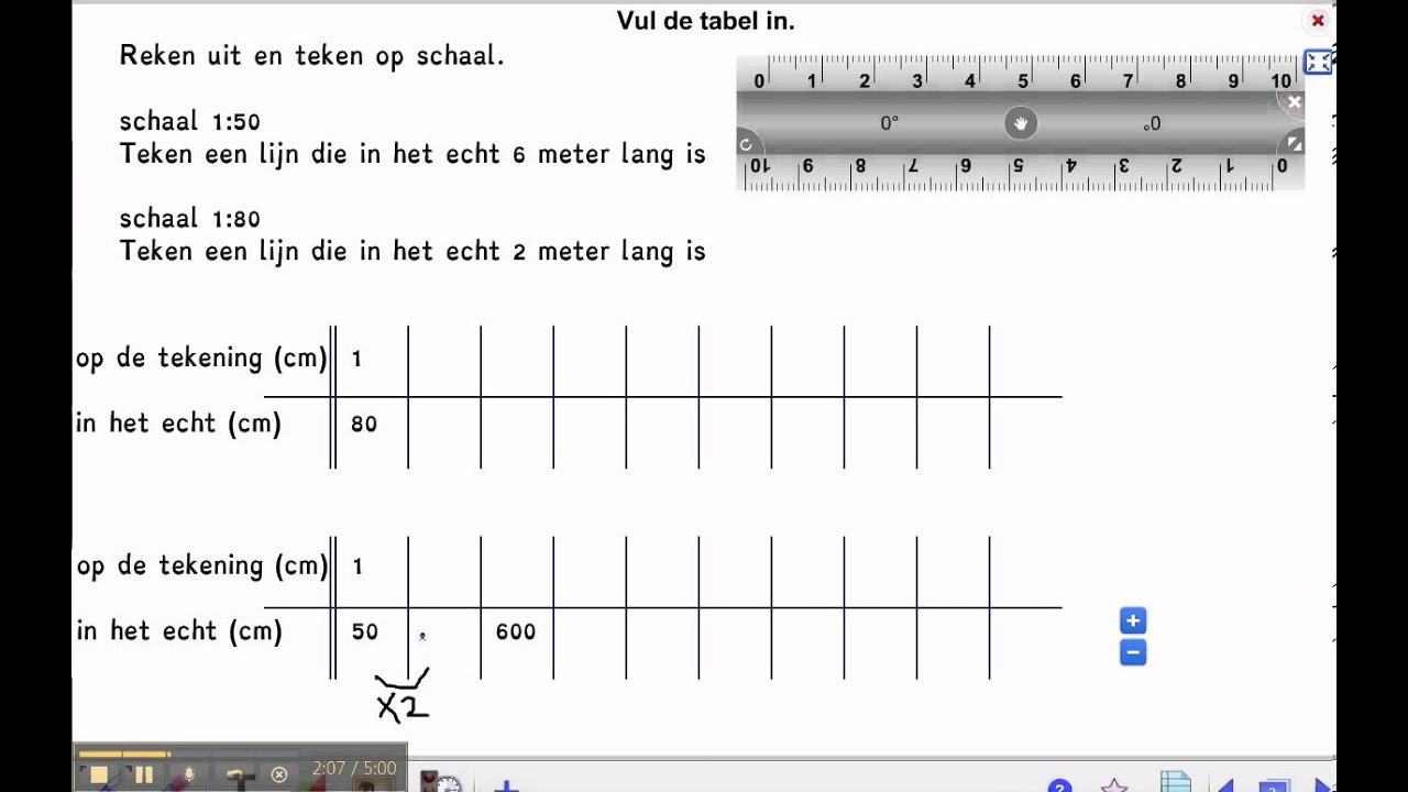 Pluspunt 3 Rekenen Groep 7 Blok 2 Les 8 Schaal Youtube