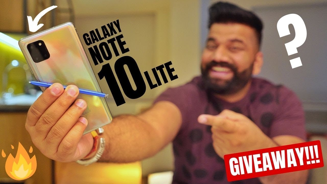 Galaxy Note 10 Lite Is Here – Heavy Features Lite Price – Giveaway🔥🔥🔥