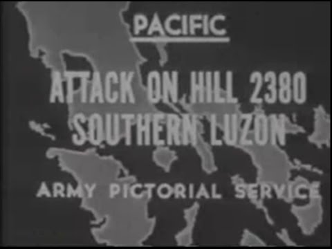 WW 2 PACIFIC LUZON Attack on Hill 2380 by 11th AIRBORNE 1945