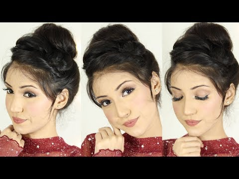 Bun Hairstyle For Party And Wedding | Hair Style Girl | Updo Hairstyle thumbnail