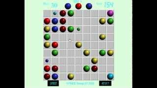 Игра в линии 98 цветные шарики в ряд олайн