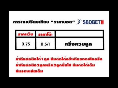 ราคาบอล พนันบอลออนไลน์ sbobet