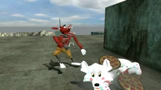 Foxy beats up (pre)Mangle for no reason