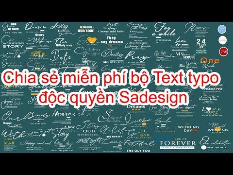 Chia sẻ miễn phí bộ Text Typo độc quyền Sadesign