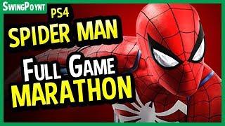 Spiderman PS4 Gameplay FULL GAME MARATHON - (Marvel's The Amazing Spider-Man Gameplay LIVE)