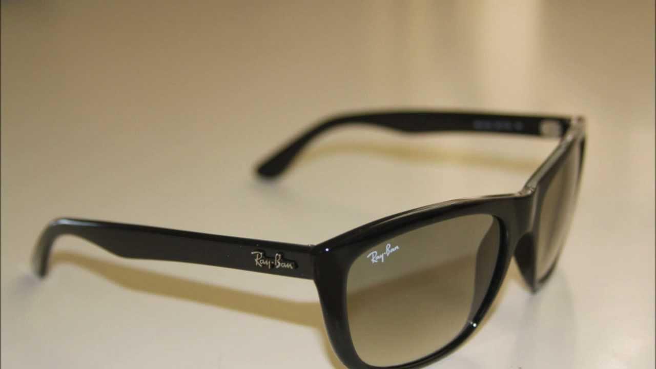 ray ban 4154  Ray Ban 4154 Black 601/32 Sunglasses - YouTube