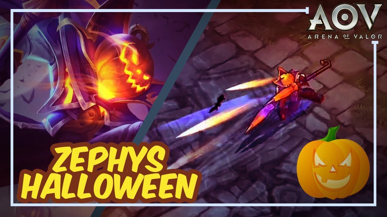New Skin Zephys Special Halloween Arena Of Valor Aov Rov