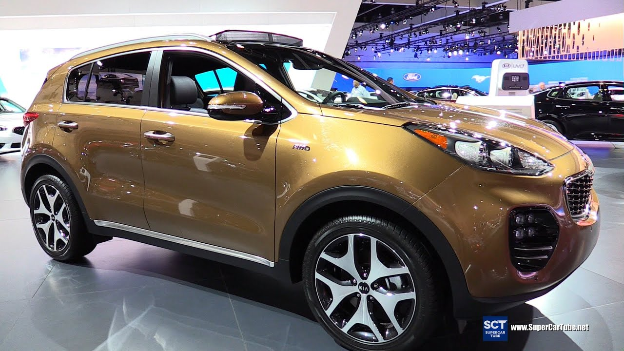 2017 Kia Sportage Sx Turbo Awd Exterior And Interior Walkaround La Auto Show You