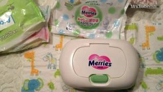Обзор детских влажных салфеток Moony/ Merries/ Maneki