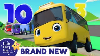 Ten Little Buses Song | Brand new Nursery Rhyme & Kids Song - ABCs and 123s | Little Baby Bum