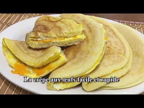 crêpe-farcie-aux-œufs-et-au-fromage-mozzarella-facile-et-rapide.-mille-trous-(baghrir)-farci