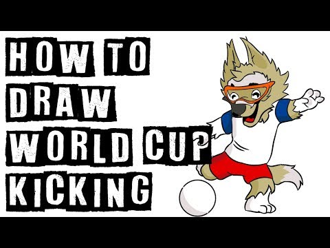 How To Draw Russia World Cup Mascot Kicking The Balls | Illustrator Drawing Expert