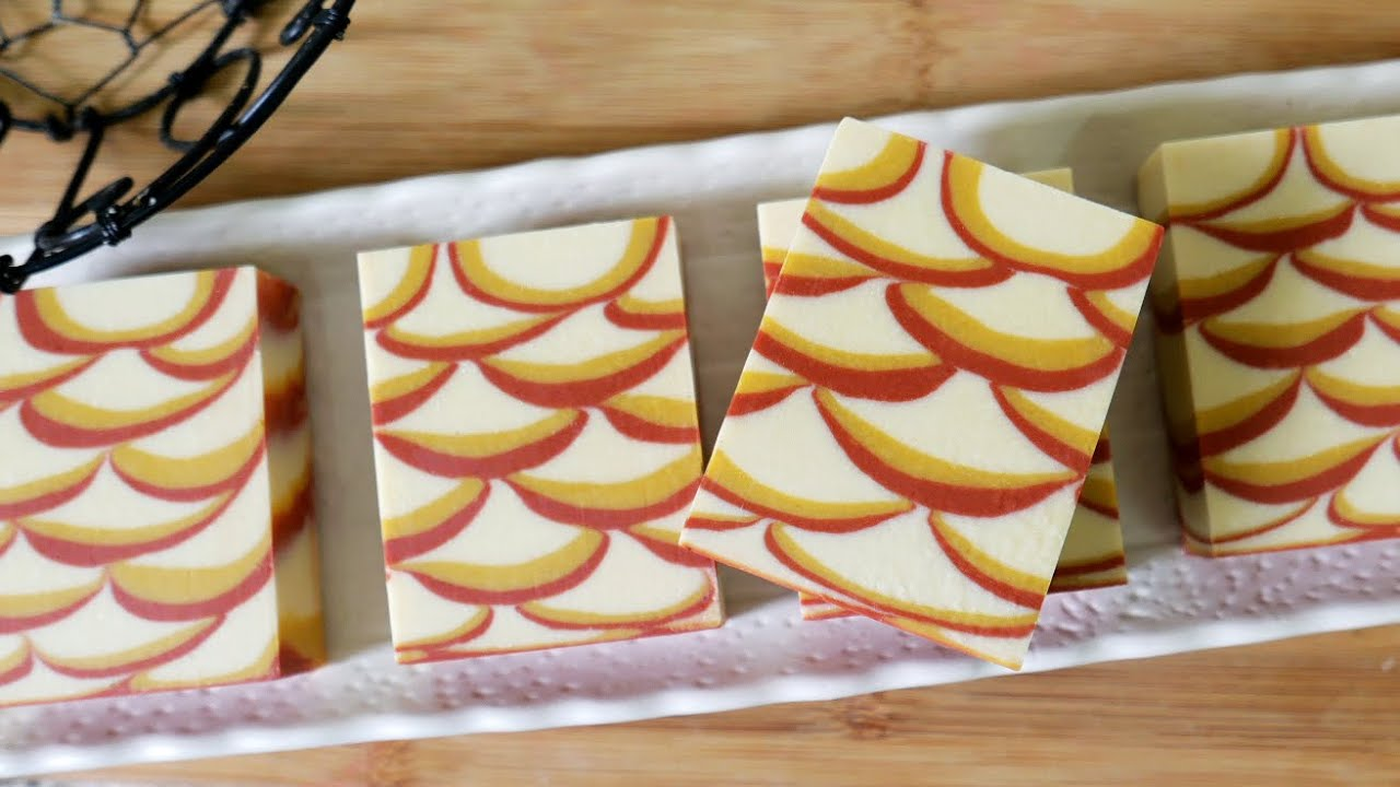 魚鱗渲染皂DIY - how to make the fish scale swirl handmade soap - 手工皂