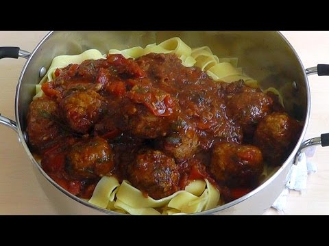 Meatballs Pasta Homemade Tomato Sauce Delicious Recipe How to make