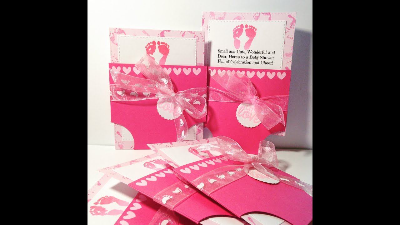 Baby Diaper Card from scratch Boy or Girl