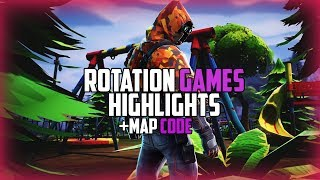 ROTATION GAMES MAP (+Code) Highlights /Fortnite Battle Royale