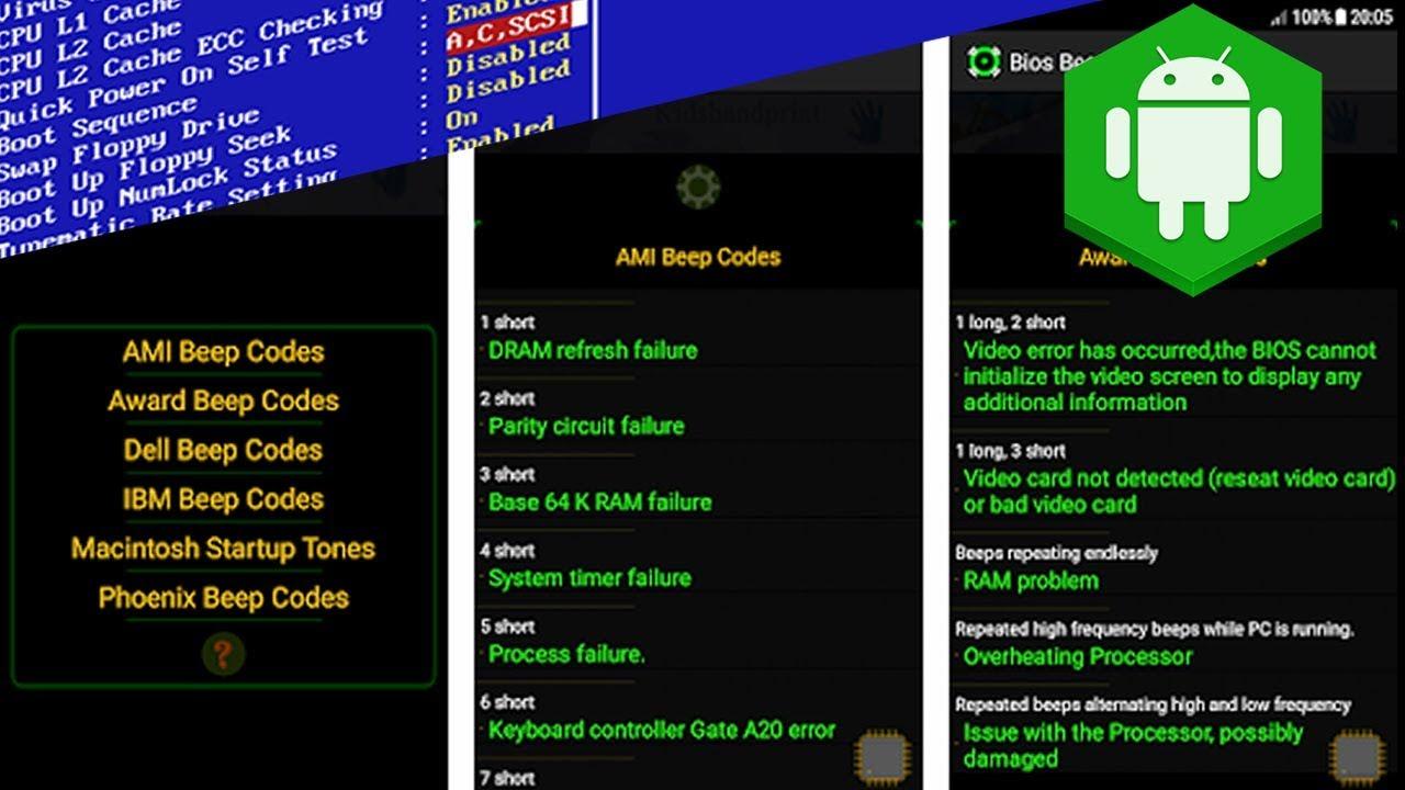 Bios Beep Codes - Computer POST And Bios Beep Codes