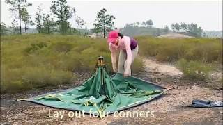 Automatic Hydraulic Tent Camping Hiking Outdoor Waterproof Tent  Setup