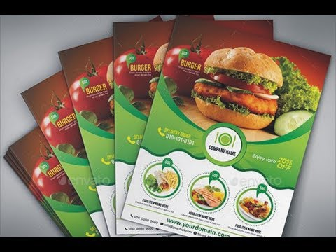 Coreldraw Tutorial (burger Flyer Design) By Ahsan Sabri