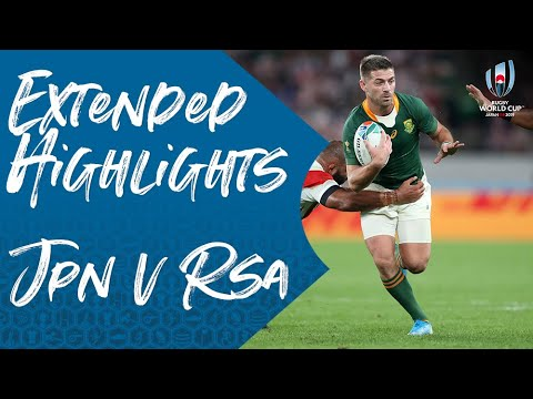 Extended Highlights: Japan vs South Africa - Rugby World Cup