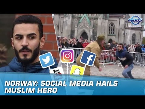 Norway: Social Media Hails Muslim Hero | Indus News