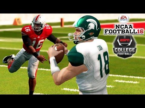 NCAA Football 16 | #9 Michigan State at #3 Ohio State Thriller! | Cook vs Barrett