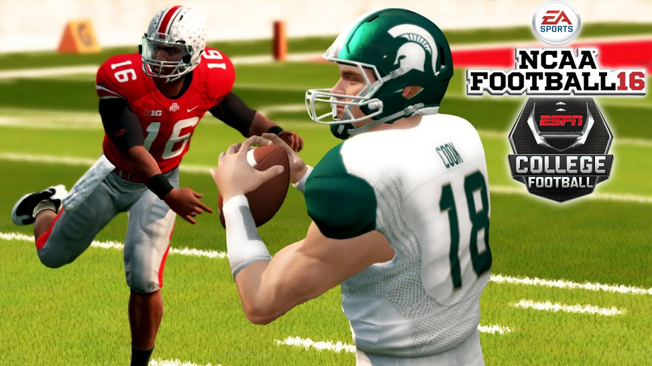Ncaa Football 16 9 Michigan State At 3 Ohio State Thriller