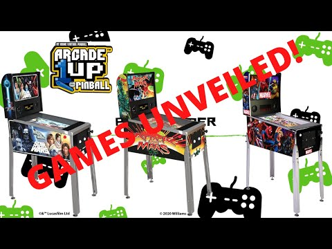 Arcade1up Pinball Games Unveiled from PsykoGamer