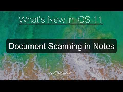 iOS 11 Tutorial: Document Scanning in Notes on iPhone or iPad!