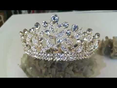 Сватбена корона за коса с белгийски кристали- Queen Isabella от Svatbalux