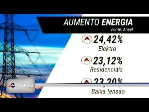 Começou a valer o aumento na tarifa de energia em 110 municípios da região