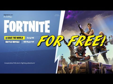 How to get SAVE THE WORLD for FREE! *NEW 2018* (Friends Code Glitch/Release Date)