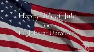 Happy 4th of July from High Point University!