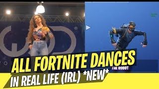 ALL FORTNITE DANCES IN REAL LIFE! (IRL) *NEW 2018*