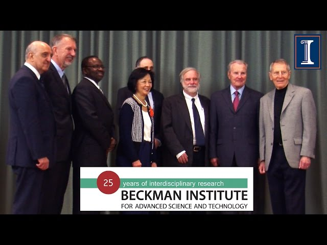 A screenshot from Beckman Institute 25th Anniversary Opening Remarks