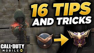 Top 16 Tips & Tricks in COD Mobile | (Legendary Ranked + Solo Queue Tips!!)