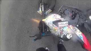 Падение с мотоцикла Irbis GR 250