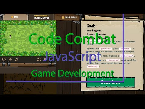 CodeCombat Them Bones Level 14 Game Development Tutorial with Answers in JavaScript thumbnail