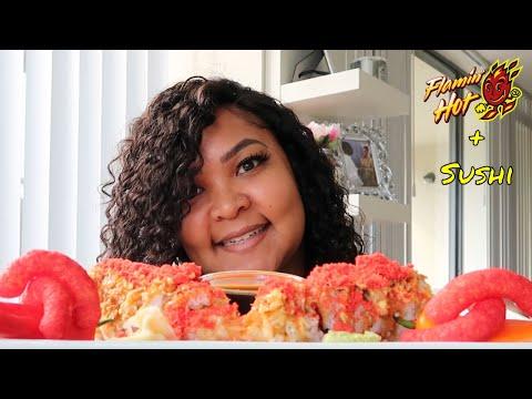 HOT CHEETOS SUSHI | SHRIMP TEMPURA | Shai Snacks EATING SHOW