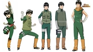 Rock Lee - All Evolution Forms (Naruto,Naruto Shippuden,Naruto The Last,Naruto Gaiden,Boruto Movie)