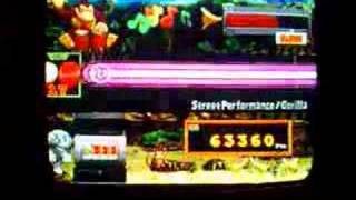 me on donkey konga coming close to perfect, 4 bads 2 miss. shame. s...